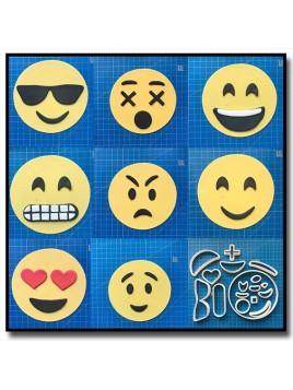 Emoticone Complet 101 - Emporte-pièce en Kit pour pâtes à sucre et sablés sur le thème Réseaux sociaux
