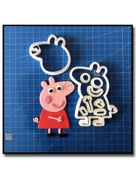 Peppa Pig 103 - Emporte-pièce en Kit pour pâtes à sucre et sablés sur le thème Peppa Pig