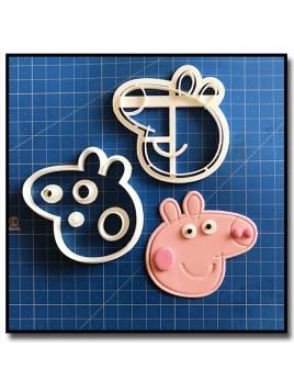 Peppa Pig 101 - Emporte-pièce en Kit pour pâtes à sucre et sablés sur le thème Peppa Pig