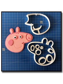 Peppa Pig 102 - Emporte-pièce en Kit pour pâtes à sucre et sablés sur le thème Peppa Pig