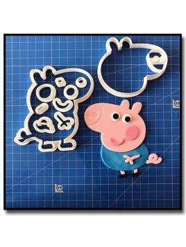 George Pig 101 - Emporte-pièce en Kit pour pâtes à sucre et sablés sur le thème Peppa Pig