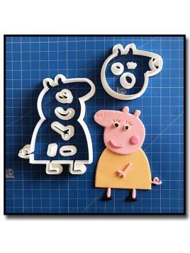 Maman Pig 101 - Emporte-pièce en Kit pour pâtes à sucre et sablés sur le thème Peppa Pig