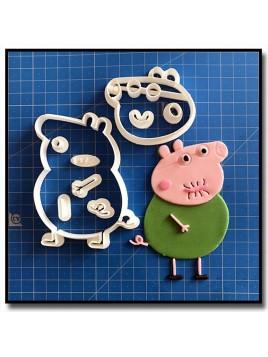 Papa Pig 101 - Emporte-pièce en Kit pour pâtes à sucre et sablés sur le thème Peppa Pig
