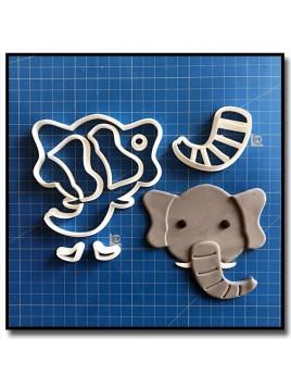 Éléphant Visage 101 - Emporte-pièce en Kit pour pâtes à sucre et sablés sur le thème Safari