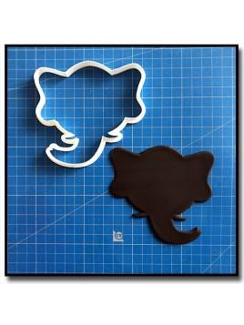 Éléphant Visage 201 - Emporte-pièce pour pâtes à sucre et sablés sur le thème Safari
