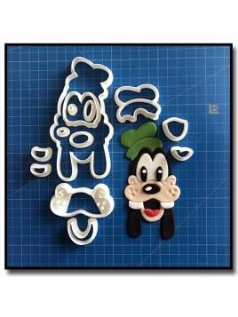Dingo Visage 101 - Emporte-pièce en Kit pour pâtes à sucre et sablés sur le thème La bande de Mickey