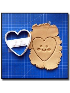Coeur Kawaii 001 - Emporte-pièce pour pâtes à sucre et sablés sur le thème Kawaii