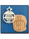 Saint-Etienne ASSE 001 - Emporte-pièce pour pâtes à sucre et sablés sur le thème Football