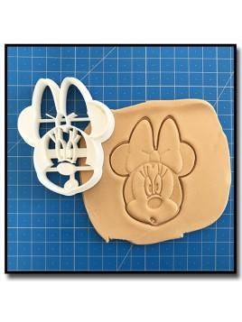 Minnie Visage 002 - Emporte-pièce pour pâtes à sucre et sablés sur le thème La bande de Mickey
