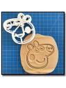 Peppa Pig 001 - Emporte-pièce pour pâtes à sucre et sablés sur le thème Peppa Pig