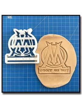 Olympique de Marseille OM 001 - Emporte-pièce pour pâtes à sucre et sablés sur le thème Football