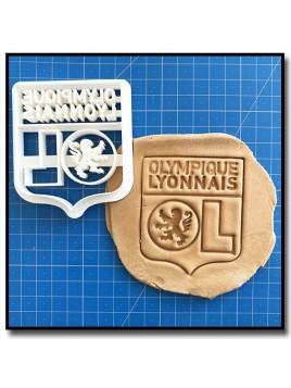 Olympique Lyonnais OL 001 - Emporte-pièce pour pâtes à sucre et sablés sur le thème Football