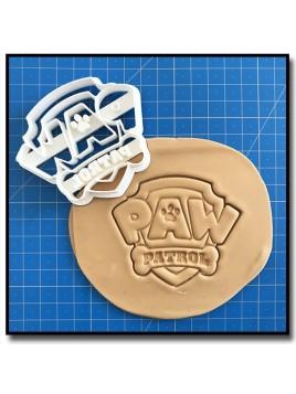 Pat Patrouille Logo 001 - Emporte-pièce pour pâtes à sucre et sablés sur le thème Pat Patrouille