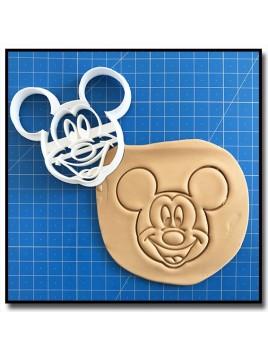 Mickey Visage 001 - Emporte-pièce pour pâtes à sucre et sablés sur le thème La bande de Mickey