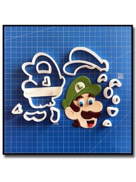 Luigi 101 - Emporte-pièce en Kit pour pâtes à sucre et sablés sur le thème Super Mario