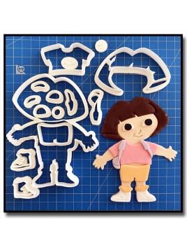 Dora 101 - Emporte-pièce en Kit pour pâtes à sucre et sablés sur le thème Dessin Animés
