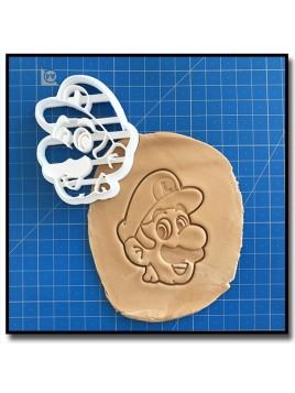 Luigi 001 - Emporte-pièce pour pâtes à sucre et sablés sur le thème Super Mario