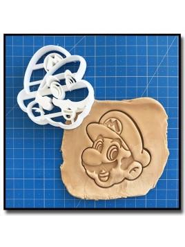 Mario 001 - Emporte-pièce pour pâtes à sucre et sablés sur le thème Super Mario