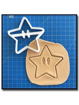 Super Étoile 001 - Emporte-pièce pour pâtes à sucre et sablés sur le thème Super Mario