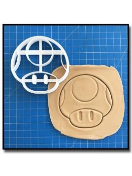 Toad 001 - Emporte-pièce pour pâtes à sucre et sablés sur le thème Super Mario