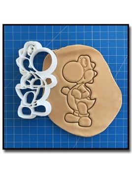 Yoshi 001 - Emporte-pièce pour pâtes à sucre et sablés sur le thème Super Mario