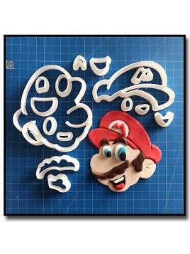 Mario 101 - Emporte-pièce en Kit pour pâtes à sucre et sablés sur le thème Super Mario