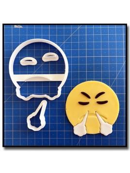 Emoticone Râleur 101 - Emporte-pièce en Kit pour pâtes à sucre et sablés sur le thème Réseaux sociaux