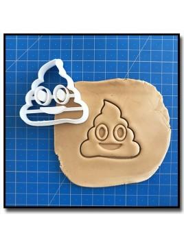 Emoticone Merde 001 - Emporte-pièce pour pâtes à sucre et sablés sur le thème Réseaux sociaux
