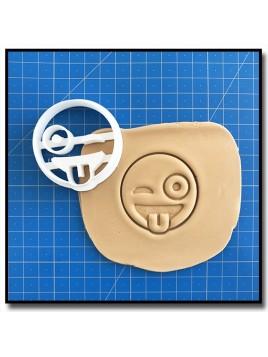 Emoticone Tire Langue 001 - Emporte-pièce pour pâtes à sucre et sablés sur le thème Réseaux sociaux