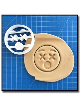 Emoticone Yeux X 001 - Emporte-pièce pour pâtes à sucre et sablés sur le thème Réseaux sociaux