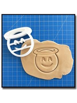 Emoticone Ange 001 - Emporte-pièce pour pâtes à sucre et sablés sur le thème Réseaux sociaux