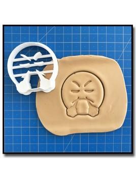 Emoticone Râleur 001 - Emporte-pièce pour pâtes à sucre et sablés sur le thème Réseaux sociaux