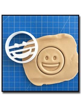 Emoticone Grand Sourire 001 - Emporte-pièce pour pâtes à sucre et sablés sur le thème Réseaux sociaux