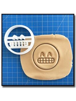 Emoticone Sourire Dent 001 - Emporte-pièce pour pâtes à sucre et sablés sur le thème Réseaux sociaux