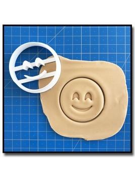 Emoticone Sourire coquin 001 - Emporte-pièce pour pâtes à sucre et sablés sur le thème Réseaux sociaux