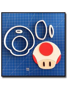 Toad 101 - Emporte-pièce en Kit pour pâtes à sucre et sablés sur le thème Super Mario