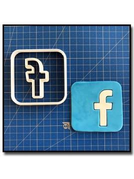 Facebook 101 - Emporte-pièce en Kit pour pâtes à sucre et sablés sur le thème Réseaux sociaux