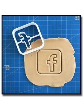 Facebook 001 - Emporte-pièce pour pâtes à sucre et sablés sur le thème Réseaux sociaux