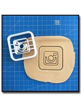 Instagram 001 - Emporte-pièce pour pâtes à sucre et sablés sur le thème Réseaux sociaux
