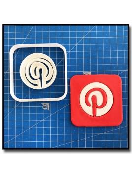 Pinterest 101 - Emporte-pièce en Kit pour pâtes à sucre et sablés sur le thème Réseaux sociaux