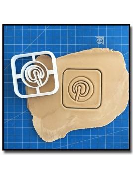 Pinterest 001 - Emporte-pièce pour pâtes à sucre et sablés sur le thème Réseaux sociaux