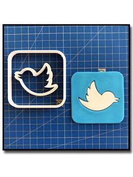 Twitter 101 - Emporte-pièce en Kit pour pâtes à sucre et sablés sur le thème Réseaux sociaux
