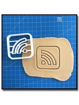 Wi-Fi 001 - Emporte-pièce pour pâtes à sucre et sablés sur le thème Réseaux sociaux