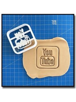 YouTube 001 - Emporte-pièce pour pâtes à sucre et sablés sur le thème Réseaux sociaux