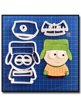 Kyle 101 - Emporte-pièce en Kit pour pâtes à sucre et sablés sur le thème South Park