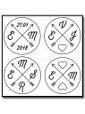 Flèches & Initiales 002 - Emporte-pièce pour pâtes à sucre et sablés sur le thème Personnalisée