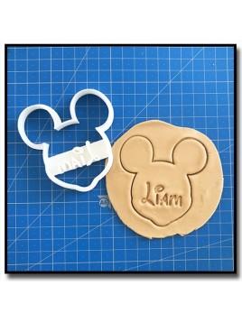 Mickey & Prénom 001 - Emporte-pièce pour pâtes à sucre et sablés sur le thème La bande de Mickey