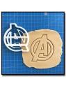 Avengers  001 - Emporte-pièce pour pâtes à sucre et sablés sur le thème Super-Heros