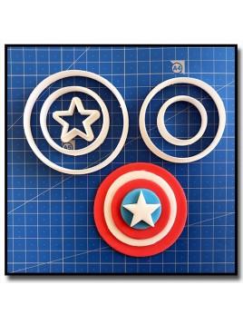 Captain América 101 - Emporte-pièce en Kit pour pâtes à sucre et sablés sur le thème Super-Heros