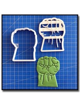 Hulk 101 - Emporte-pièce en Kit pour pâtes à sucre et sablés sur le thème Super-Heros